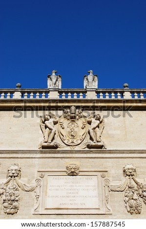Hotel des Monnaies, baroque palace of conservatory, Avignon, Provence, France - stock photo
