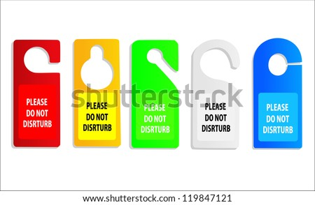 hotel do not disturb door hanger Raster version, vector file id:118818094