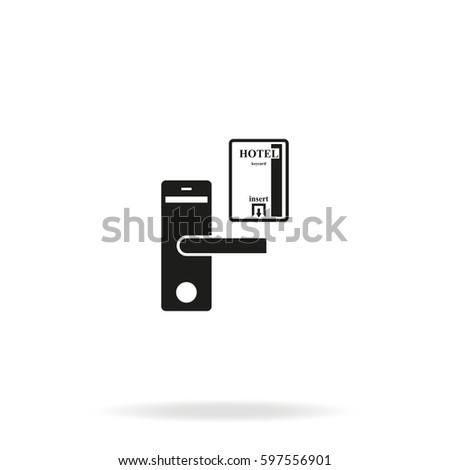 Hotel door lock key card icon stock illustration 597556901 hotel door lock and key card icon ccuart Gallery