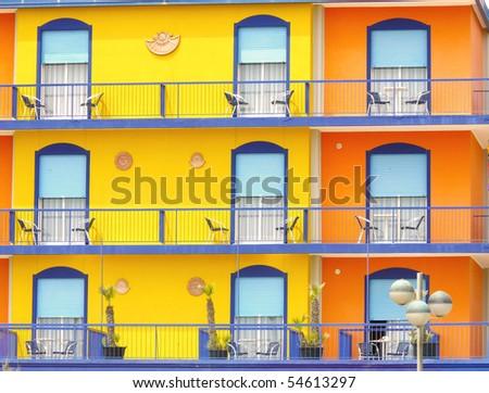 Hotel facade - stock photo