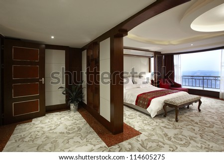 Hotel guest room interiors - stock photo