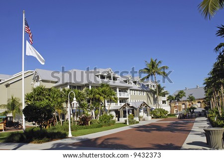 Hotel in Key West - stock photo