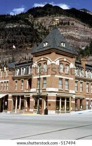 Hotel in Ouray, Colorado - stock photo