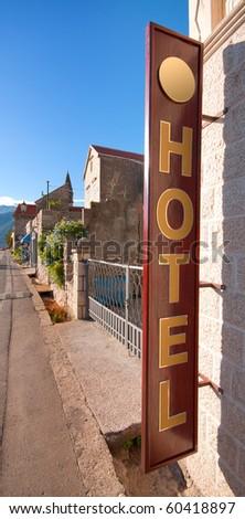 Hotel in Perast, Montenegro. - stock photo