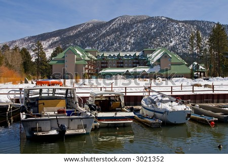 Hotel in South Lake Tahoe - stock photo