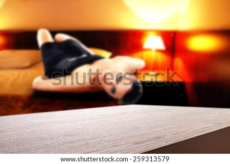 hotel interior of room and space for you  - stock photo