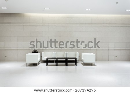 hotel lobby and furniture - stock photo