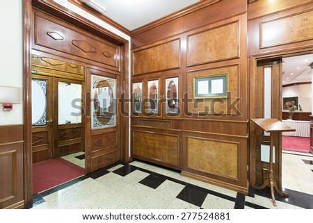 Hotel lobby interior  - stock photo