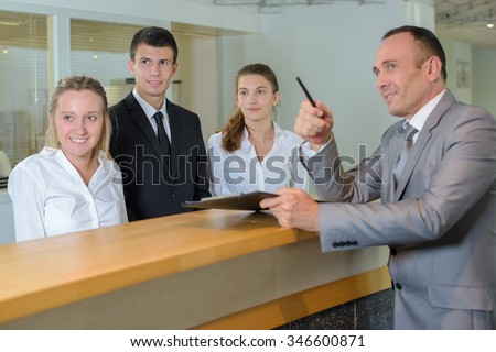 hotel management - stock photo