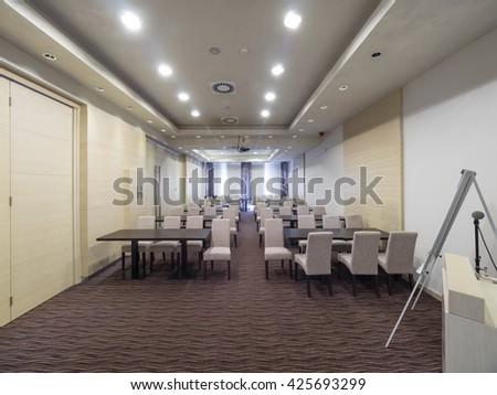 Hotel meeting room - stock photo