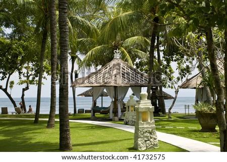 Hotel on bali island. indonesia - stock photo