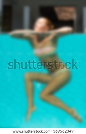 Hotel pool Bali Indonesia Travel theme blur background