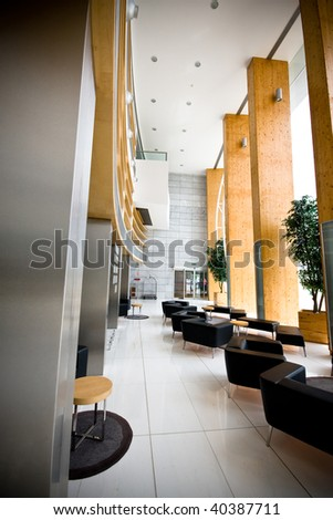 Hotel reception area - stock photo