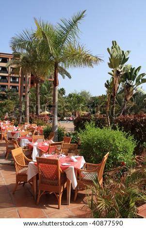 Hotel - restaurant view - stock photo