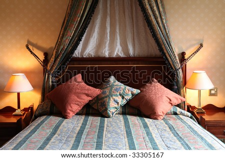 hotel room from a scottish hotel on the whisky road - stock photo