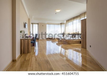 Hotel room interior - stock photo