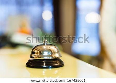 Hotel service bell - stock photo