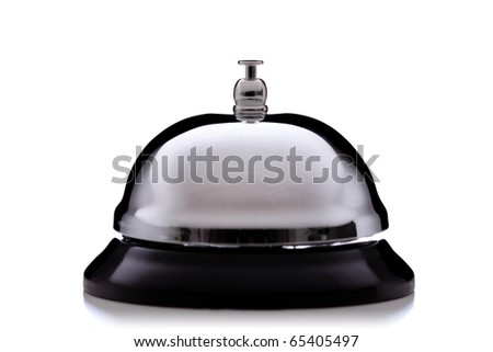 hotel service bell, isolated on white background - stock photo
