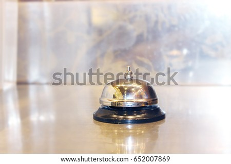 Hotel service bell on a table
