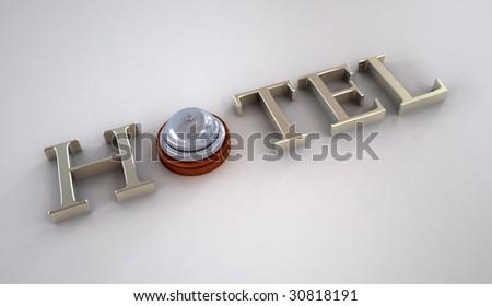 Hotel symbol - stock photo
