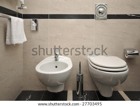 Hotel WC - stock photo