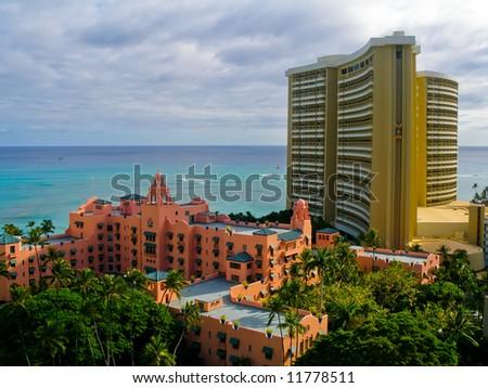 Hotels in Hawaii - stock photo