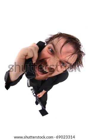 hotline man - stock photo