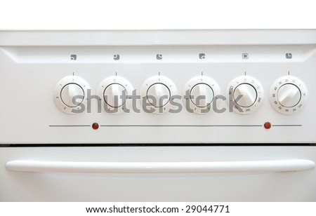hotplate switches isolated on white - stock photo