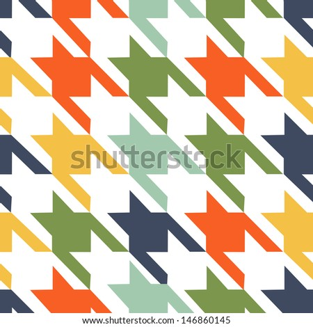Houndstooth seamless pattern - stock photo