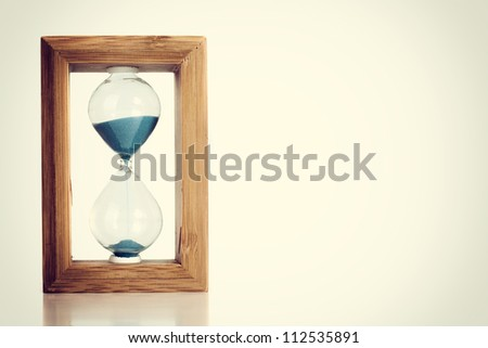 Hourglass - stock photo