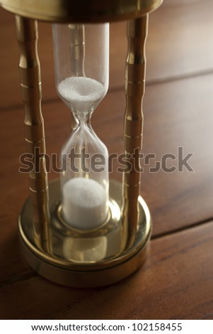 hourglass close-up - stock photo
