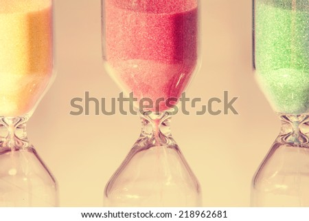 Hourglass close up - stock photo