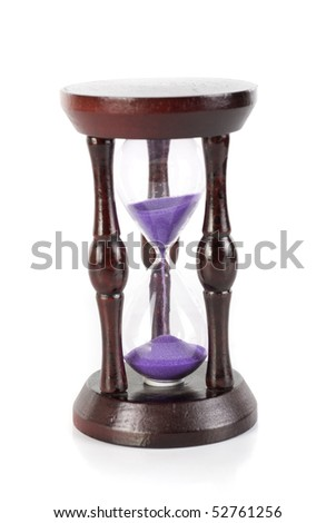 hourglass closeup isolated on a white background