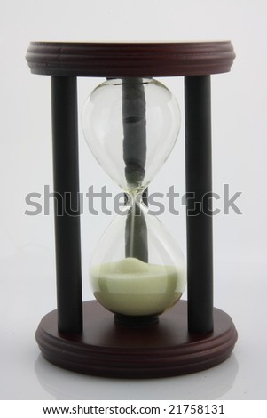 Hourglass counting the time (out of time)