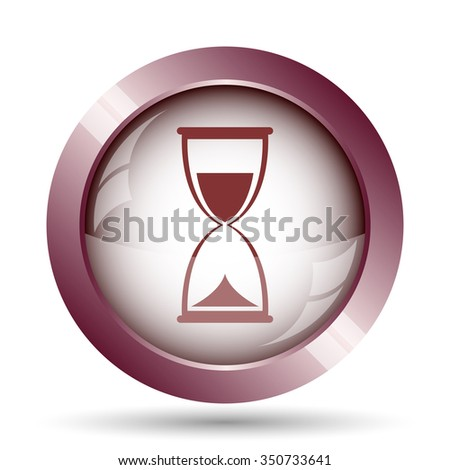 Hourglass icon. Internet button on white background.  - stock photo