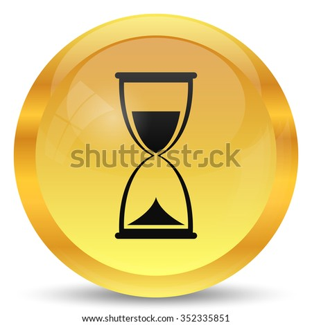 Hourglass icon. Internet button on white background.