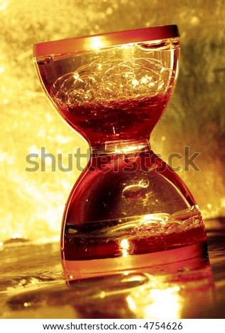 hourglass in golden color
