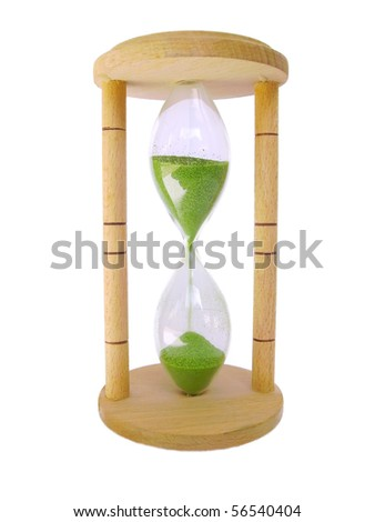 hourglass isolated - stock photo