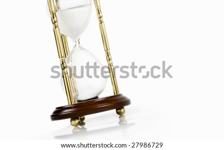hourglass isolated on a white - stock photo