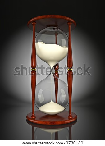 Hourglass, isolated on white