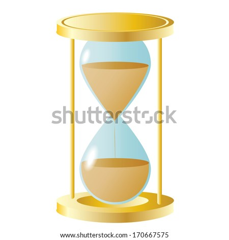 Hourglass isolated on white background raster