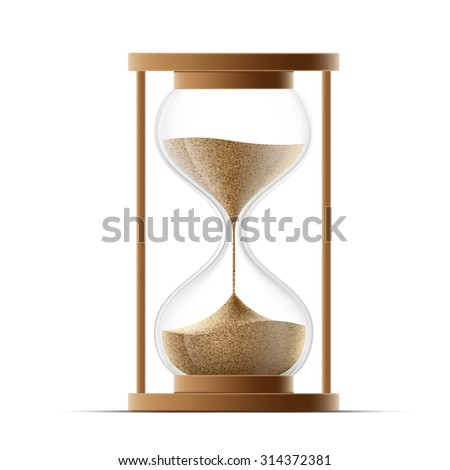 hourglass isolated on white background. Stock image.a