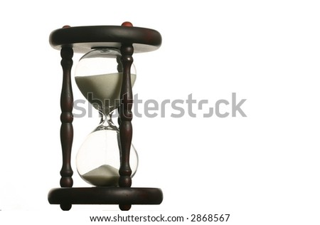 Hourglass isolated on white space