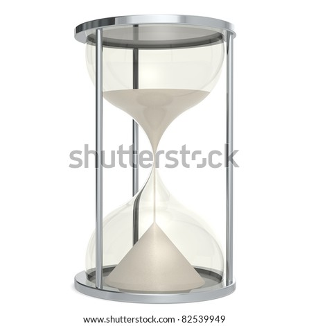 Hourglass made of Metal.