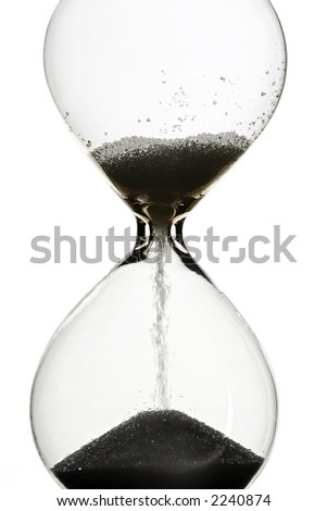 hourglass on white - a detail