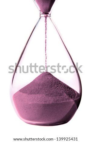 Hourglass on white background.