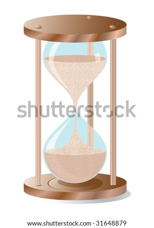 Hourglass, realistic illustration