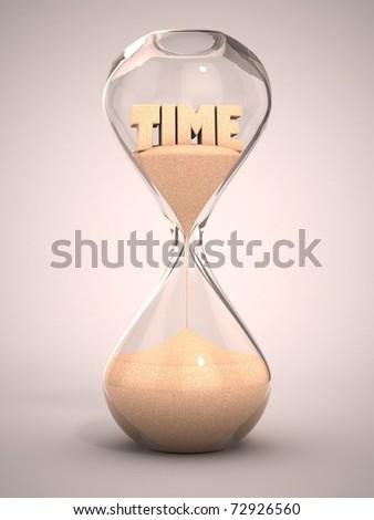 hourglass, sandglass, sand timer, sand clock 3d illustration - stock photo