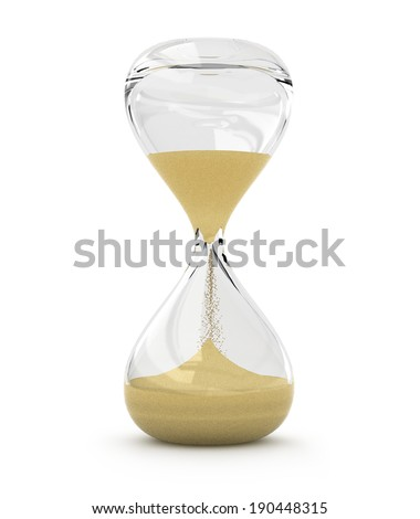 hourglass, sandglass, sand timer, sand clock isolated - stock photo