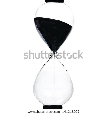 hourglass, sandglass, sand timer, sand clock isolated on a white background - stock photo